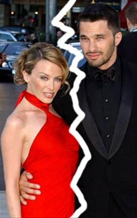 Kylie Minogue y Olivier Martinez
